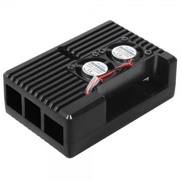 Raspberry Pi® 4 Zubehör - Gehäuse Kit Aluminium mit aktiv/passiver Kühlung