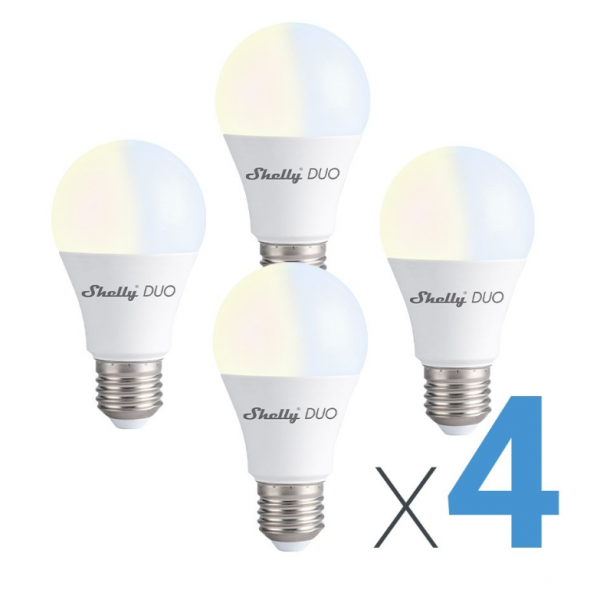 Shelly Beleuchtung DUO LED Bulb 4er Pack