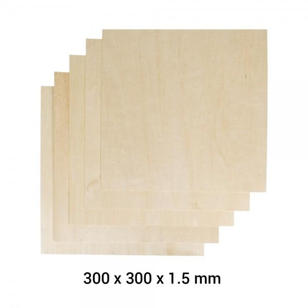 Snapmaker 2.0 Material Lindenholz A350 5er Pack / Basswood Sheet