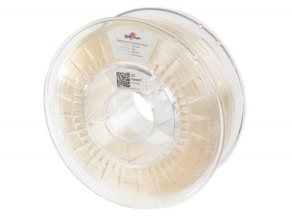 Spectrum 3D Filament / PLA Premium / 1,75mm / Translucent / Durchsichtig / 1kg