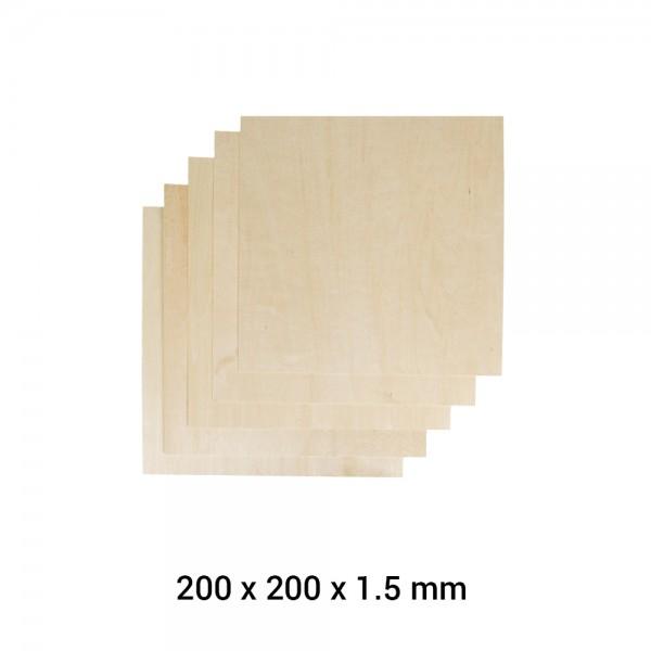 Snapmaker 2.0 Material Lindenholz A250 5er Pack / Basswood Sheet