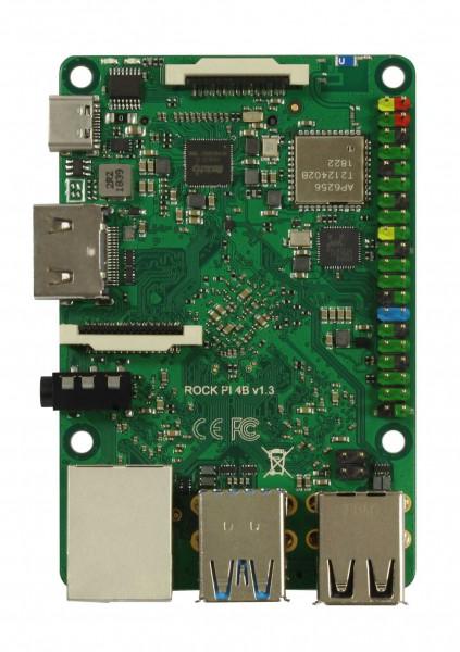 Rock Pi 4 Model A 1GB V1.4 (ohne WLAN/Bluetooth/PoE)