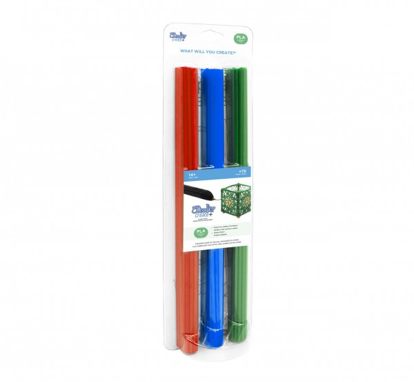 "3Doodler Create+ Filament | 75 | PLA | rot, blau, grün | ""Prima Mix"""