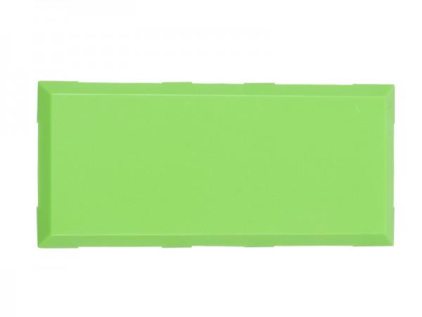 ALLNET Brick'R'knowledge Kunststoffschale 2x1 grün oben und unten 10er Pack
