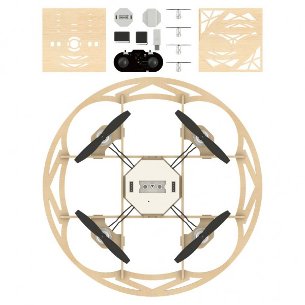 Airwood Taiji Holz Drohne / Wooden Drone Kit