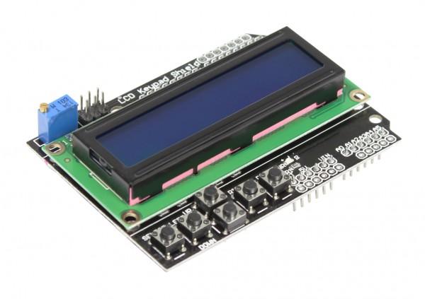 ALLNET 4duino Display Modul LCD1602 (blau) mit Tasten
