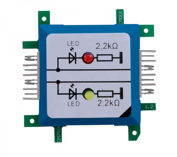 ALLNET Brick'R'knowledge LED dual auf Masse rot & gelb Signal durchverbunden