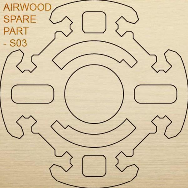 Airwood Holz Ersatzteil S03 / Spare Wood Part S03