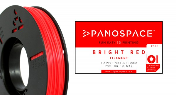 Panospace - Filament PLA red rot 1,75mm