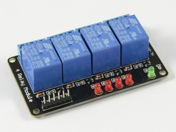 ALLNET 4duino Relais-Modul 4-fach 5 Volt ohne Optokoppler