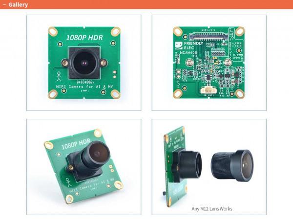 FriendlyELEC 1080P HDR MIPI Camera - MCAM400 - Fixed Lens w/ IR Filter 3.3mm/F2.2