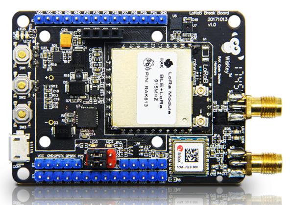RAK Wireless RAK815 Hybrid Location Tracker, LoRa+Bluetooth 5.0/Beacon+GPS+Sensors+LCD,LoRaWAN 1.0.2