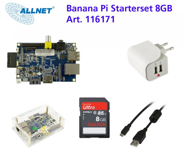 banana pi Starter Set 8GB - Ready to Start !