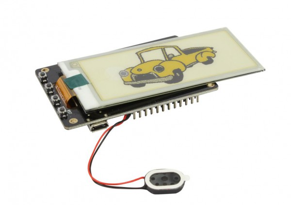 "ALLNET 4duino IoT WLAN ePaper/eink/e-ink Display white/yellow/black - ESP32 Modul 2,9"" E-Paper ALL-E"