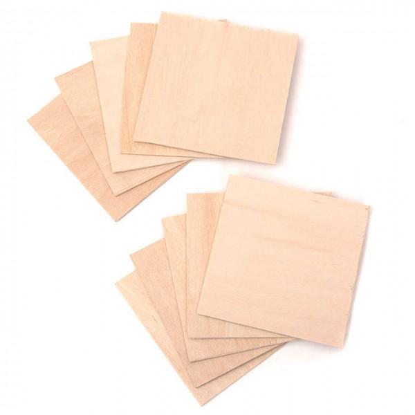 Snapmaker zbh. CNC Material Pack Holzscheiben (10x Blank Wood) 80 x 80 x 1.5 mm