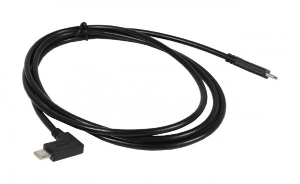 ALLNET Kabel USB-C 3.1 90° Strom-/Daten Kabel Male to Male