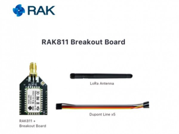 RAK Wireless RAK811 Breakout Board small and Open Source Development Board, 868/915MHz, Quickly Test