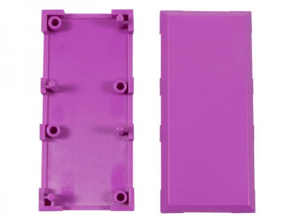 ALLNET Brick'R'knowledge Kunststoffschale 2x1 violett oben und unten 10er Pack