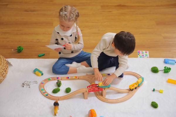 """Robobloq MINT Roboter Eisenbahn """"Coding Express"""" ab 3 Jahren (Ohne Holzschienen!)"""