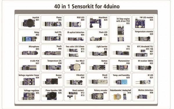 ALLNET 4duino Sensor Kit 40 in 1 SET