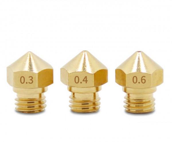 ALLNET 3D Nozzles M6 Düse verschiedene Größen für Snapmaker, Anycubic etc...