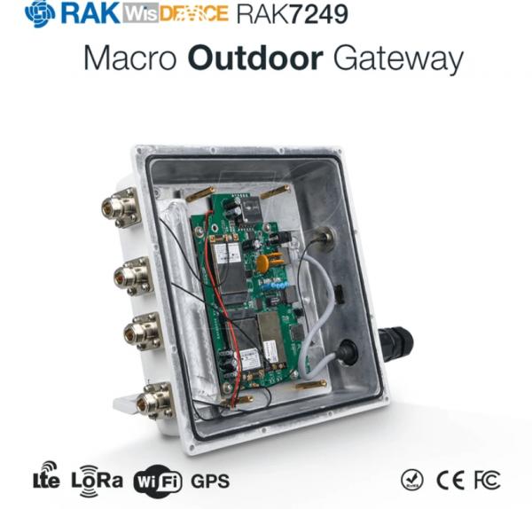 RAK Wireless LoRa DIY LoRaWan Outdoor Gateway RAK7249-03-142 LORA 8RX Kanäle 868MHz + LTE Backup