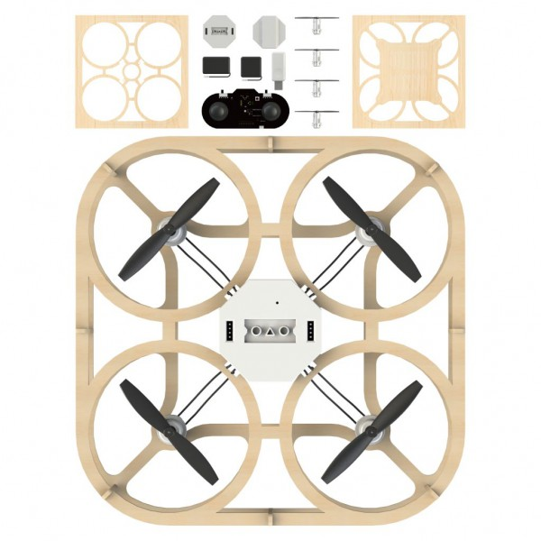 Airwood Cubee Holz Drohne / Wooden Drone Kit
