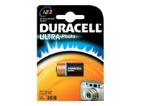 Batterien Lithium CR123A 3V (1-Pack) *Duracell* Ultra Photo