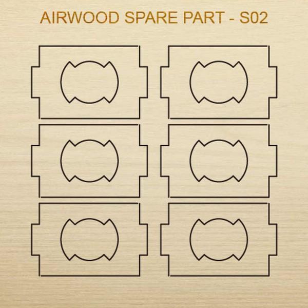 Airwood Holz Ersatzteil S02 / Spare Wood Part S02