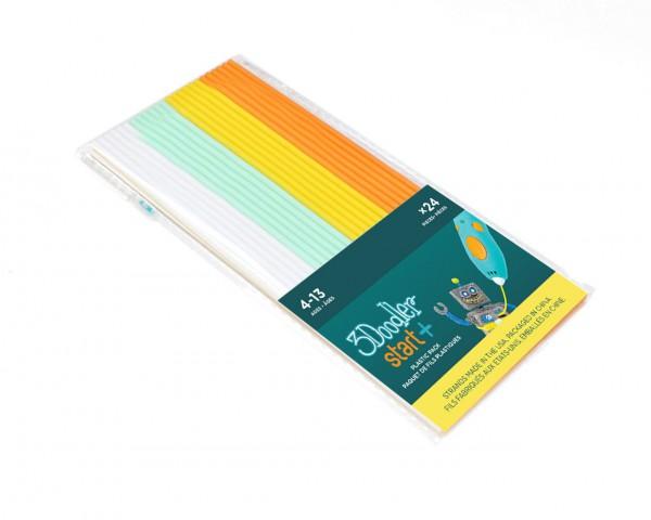 """3Doodler Start Filament Mix weiß, mint, gelb & orange 24 Stück """"Fire & Ice"""""""