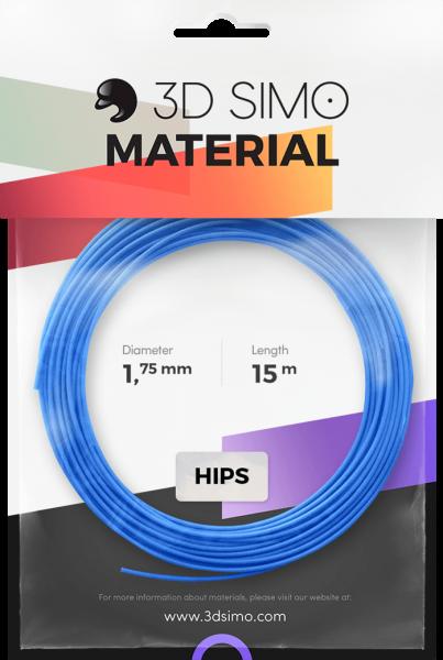 3Dsimo Filament HIPS blau, pink & gelb