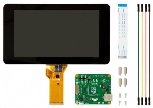 """Raspberry Pi Zubehör - offizielles Display 7"""" Touch 800x480 Pixel DSI Port"""