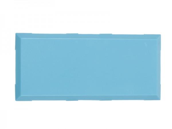 ALLNET Brick'R'knowledge Kunststoffschale 2x1 türkis oben und unten 10er Pack