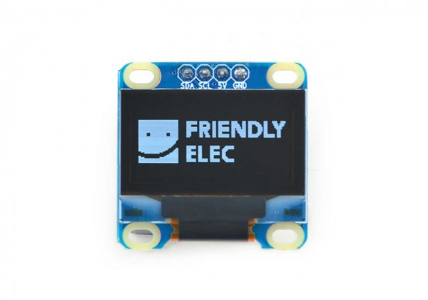 FriendlyELEC 0.96 Zoll I2C 128x64 Oled White Display Module