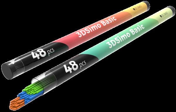 3Dsimo Filament PCL 3 grün, blau & braun für 3Dsimo basic