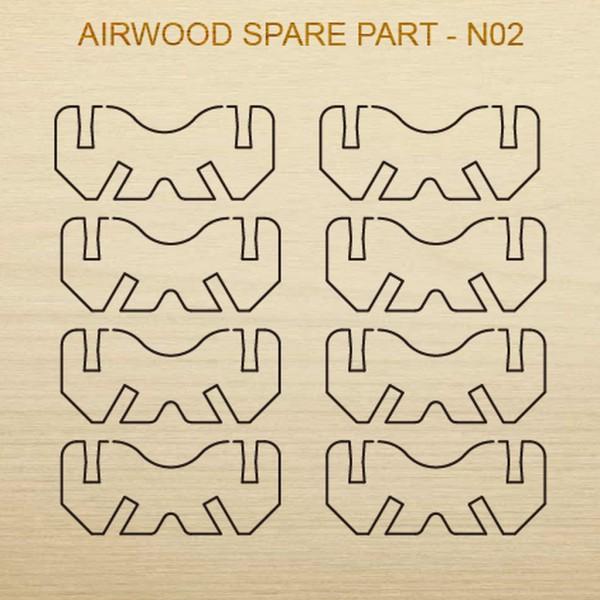 Airwood Holz Ersatzteil N02 / Spare Wood Part N02