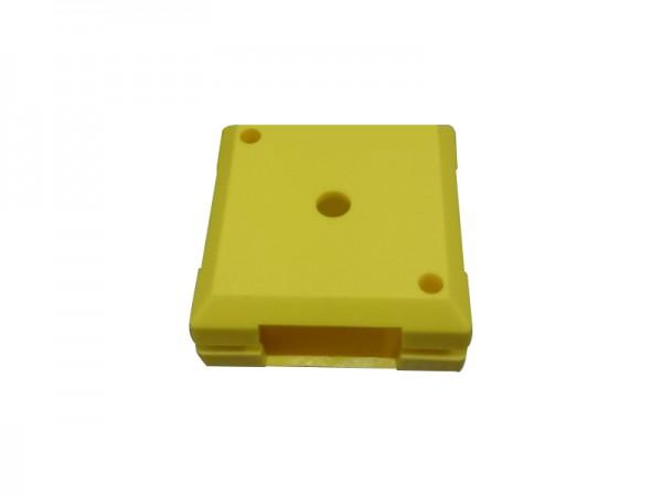 ALLNET Brick'R'knowledge Kunststoffschale 1x1 gelb oben und unten 10er Pack