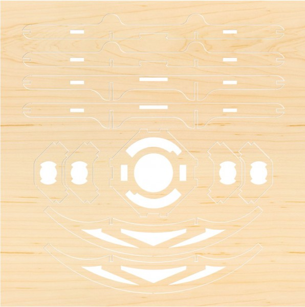 Airwood Holzrahmen der Taiji Drohne / Wood Frame