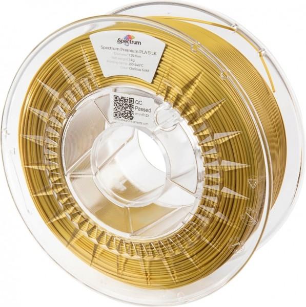 Spectrum 3D Filament / PLA Silk / 1,75mm / Glorious Gold / Gold / 1kg