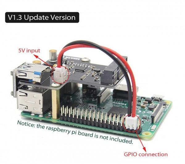 Raspberry Pi 3 Modell B+ (Plus)/3B mSATA SSD Speichererweiterung Bord X850 USB 3.0 Expansion Board M