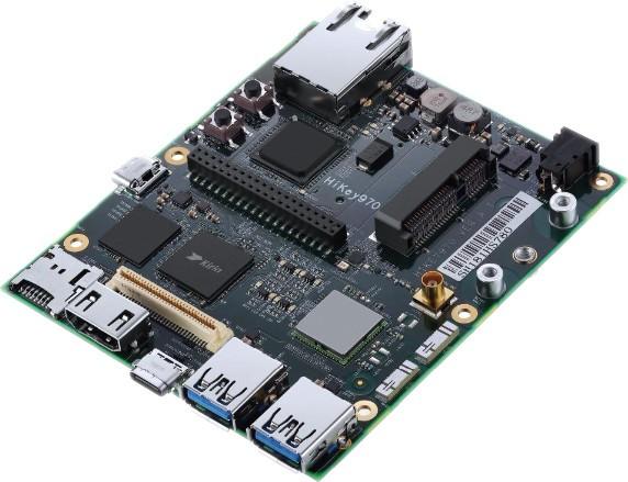 LeMaker HiKey 970â 6GB, Octa Core 4xARMâ Cortexâ A73 + 4xA53 64-Bit-CPU, Mali G72 MP12 3D GPU