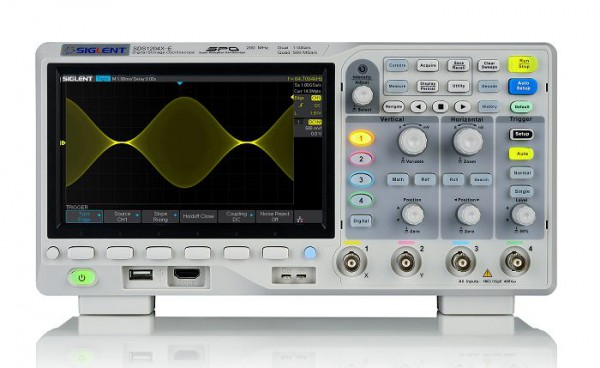 Siglent SDS1204X-E / 4-Kanal, 200MHz Oszilloskop, 1 GSa/s