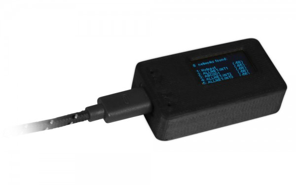 ALLNET 4duino IoT WLAN Display Gehäuse schwarz gedruckt