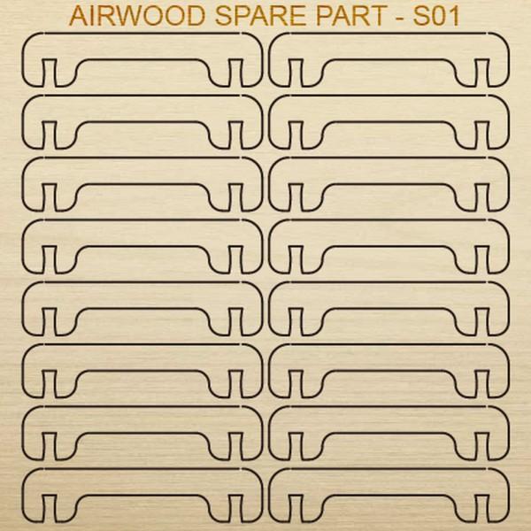 Airwood Holz Ersatzteil S01 / Spare Wood Part S01