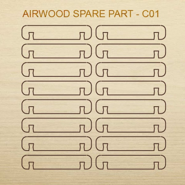 Airwood Holz Ersatzteil C01 / Spare Wood Part C01