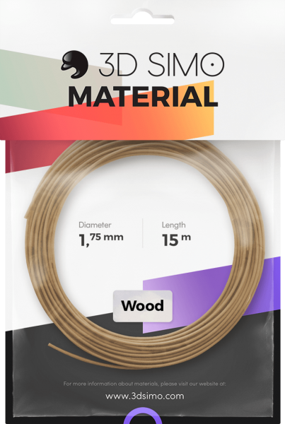 3Dsimo Filament Holz braun