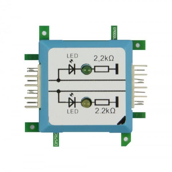 ALLNET Brick'R'knowledge LED dual auf Masse grün & gelb Signal durchverbunden
