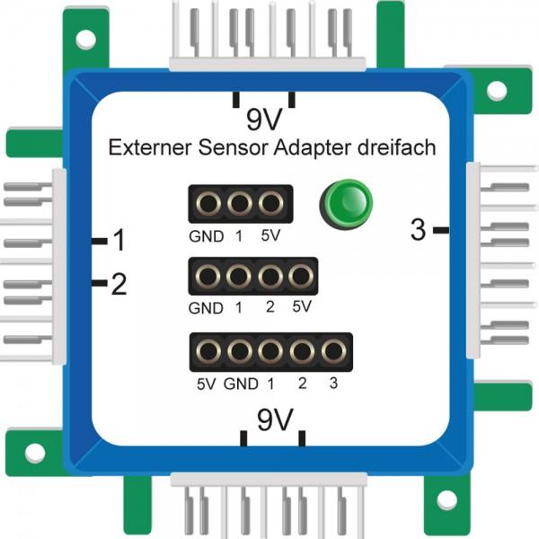 ALLNET Brick'R'knowledge Externer Sensor Adapter dreifach