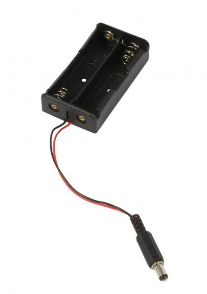 ALLNET Battery 2er Pack für 18650 Li-ion Akku mit Hohlstecker 5,1x2,1mm