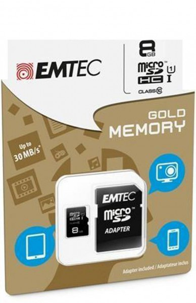Flash SecureDigitalCard (SD) 32GB *EMTEC* microSDHC Class10 UHS-I 85mb/s